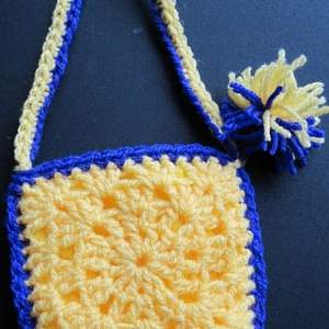 BAG YELLOW & BLUE POM POM133kb