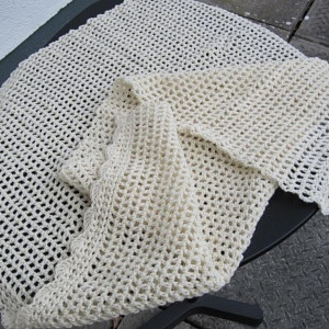 Cream Organic blanket