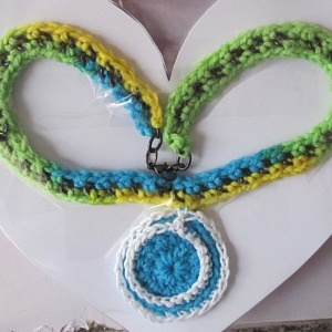 NECKLACE GREEN BLUE